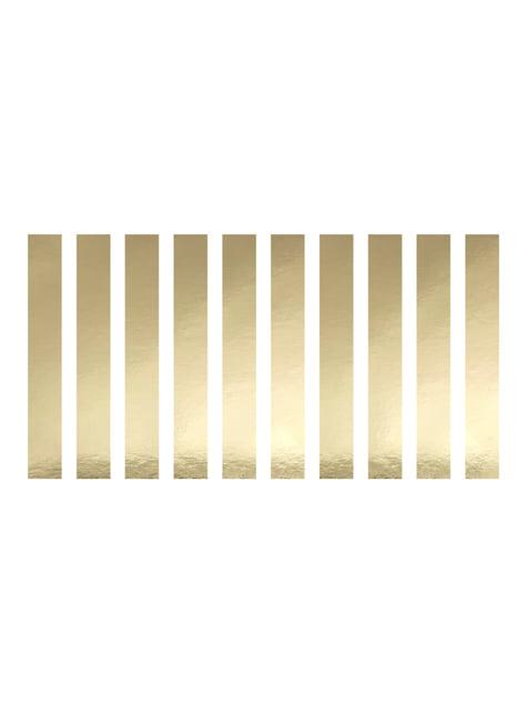 10 ronds à serviettes dorés