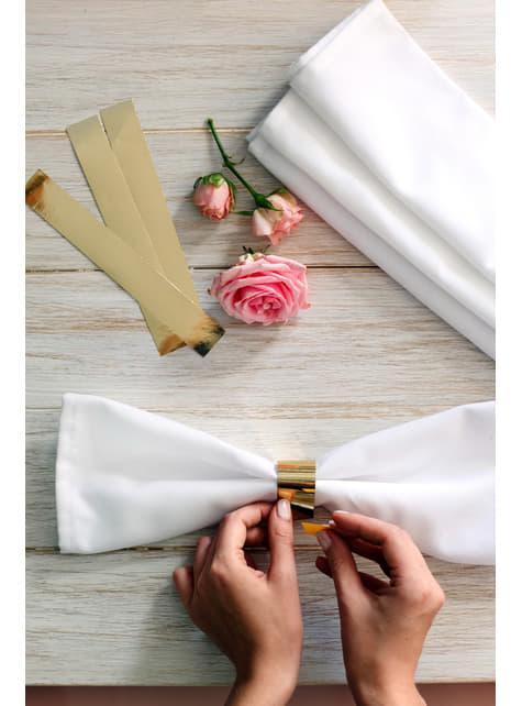 10 servilleteros dorados - para niños y adultos