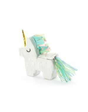 Yksisarvisen muotoinen minipinata - Unicorn
