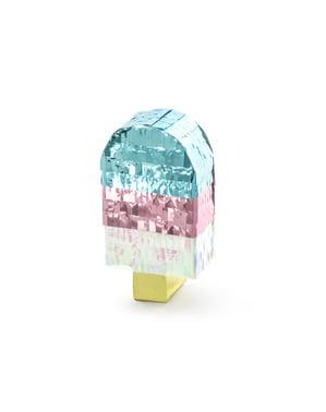 Jäätelön muotoinen minipinata - Iridescent