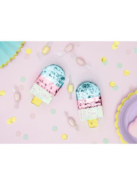 Mini piñata de helado – Iridescent - para tus fiestas
