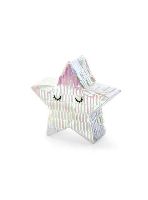 Mini piñata de estrella - Iridescent