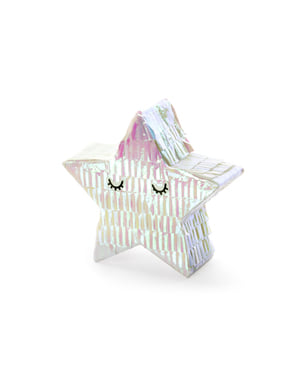Mini pignatta a forma di stella - Iridescent
