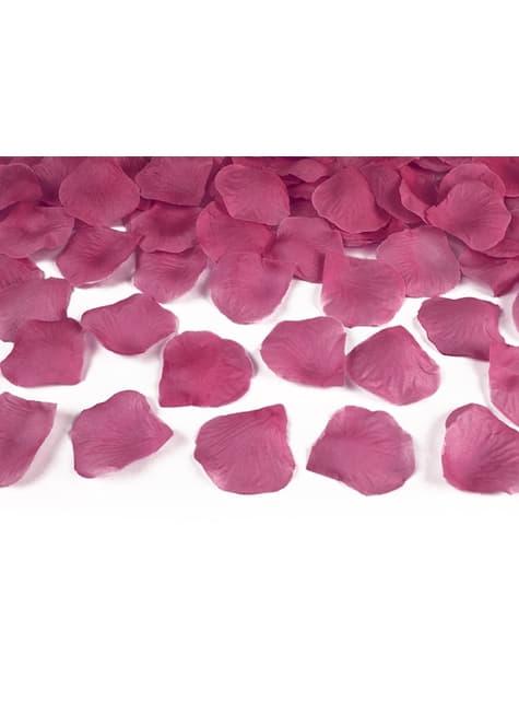 Balení 500 růžových okvětních lístků růže