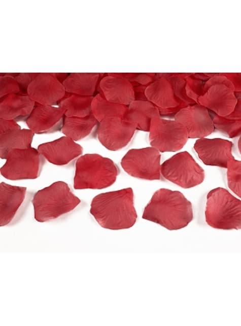 500 pétalos de rosas rojas
