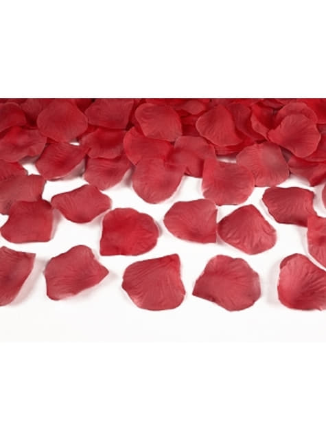 Balení 500 červených okvětních lístků růže
