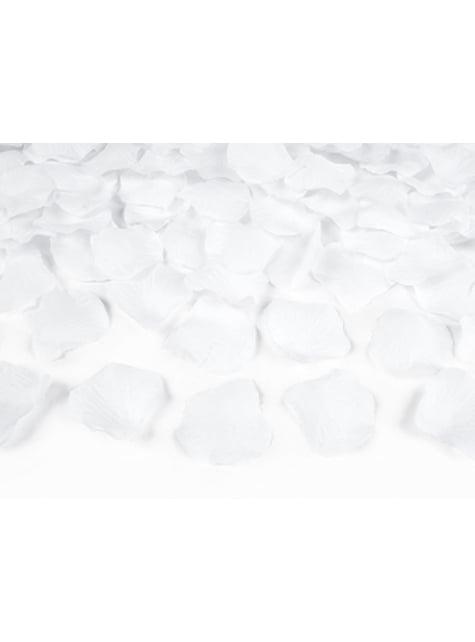 500 pétalos de rosas blancas