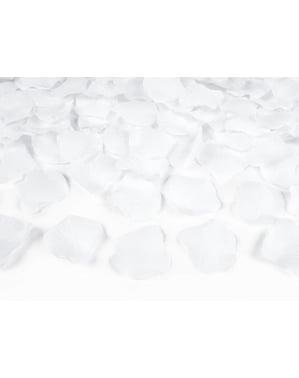 Pakke med 500 Rosenblade, Hvid