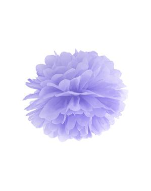 Pompom decorativo de papel lilás  de 25 cm