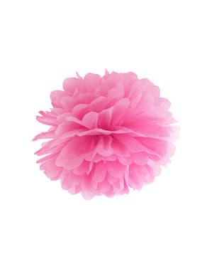 Pompón decorativo rosa de 25 cm de papel