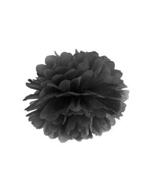 Pompón decorativo negro de 35 cm de papel