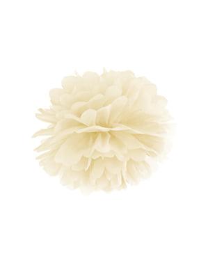 Pompón decorativo beige de 35 cm de papel