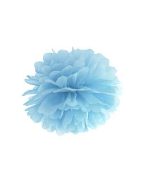 Decoratieve papieren pompom in blauw van 35 cm