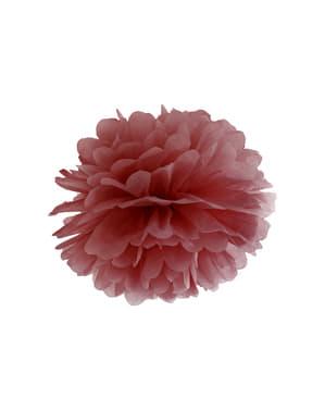Pompon grenat de 35 cm en papier