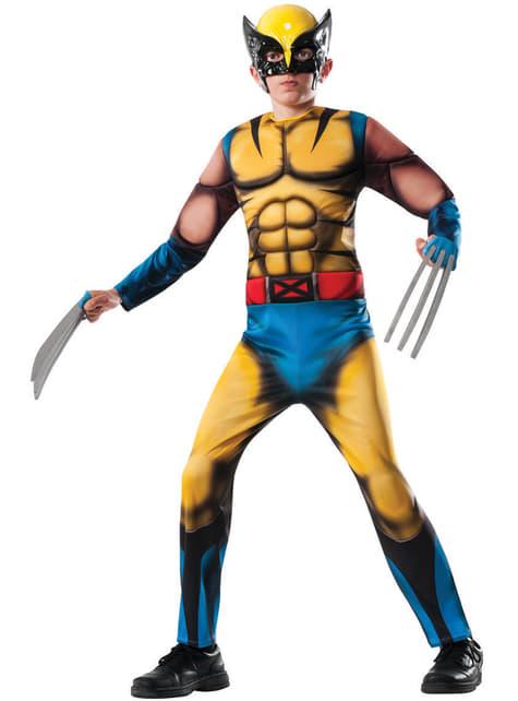 Fato de Wolverine Marvel deluxe para menino