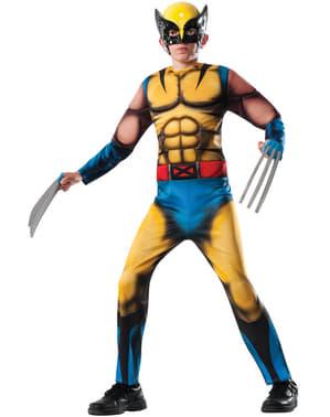 Costum Wolverine Marvel deluxe pentru băiat