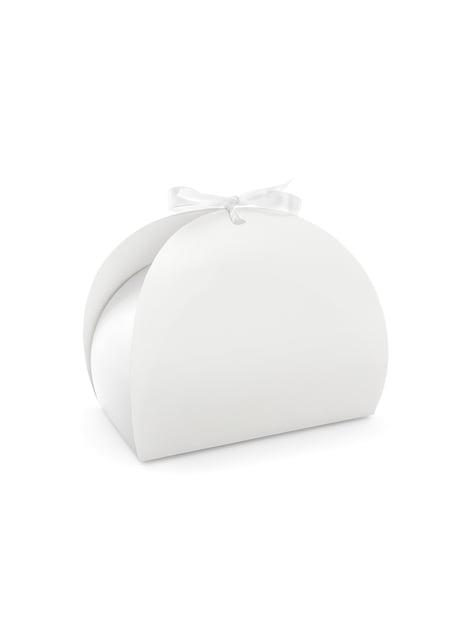 10 boîtes à gâteaux blanches  - First Communion