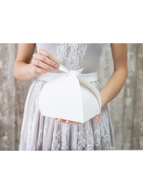 10 cajas blancas para pastel - First Communion - para tus fiestas