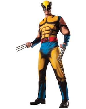 Fato de Wolverine Marvel deluxe para adulto