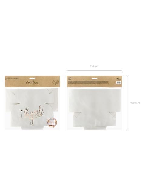 10 cajas blancas con texto