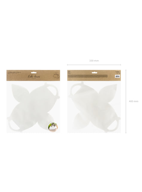 10 cajas blancas con asa para pastel - Natural Wedding