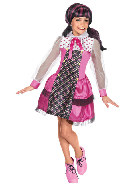 Girls Draculaura Monster High Romance Costume