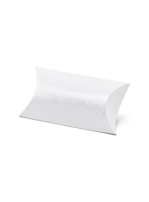 10 cajas de regalo blancas con estampado plateado