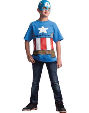Captain America Marvel T-Skjorte Gutt