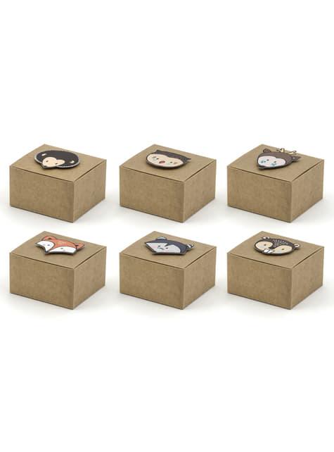 6 cajas de regalo de papel - Woodland collections