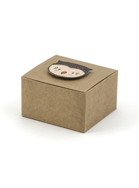6 confezioni regalo di carta - Woodland collections