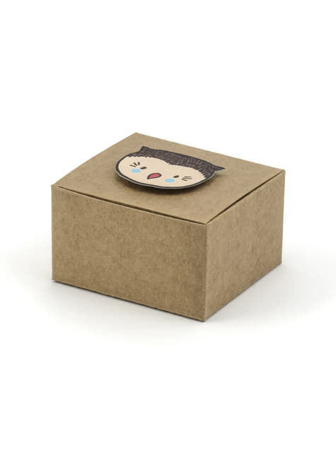 6 Paper Favor Boxes - Woodland Collections