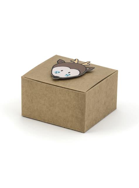 6 boîtes cadeaux en papier- Woodland collections