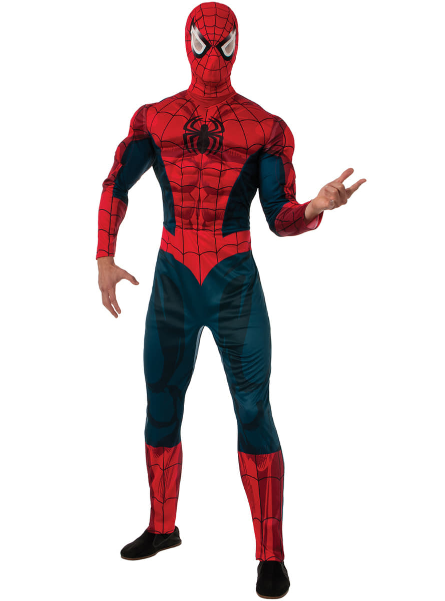 Adults Spiderman Marvel Deluxe Costume. Zoom  sc 1 st  Funidelia & Adults Spiderman Marvel Deluxe Costume. The coolest | Funidelia