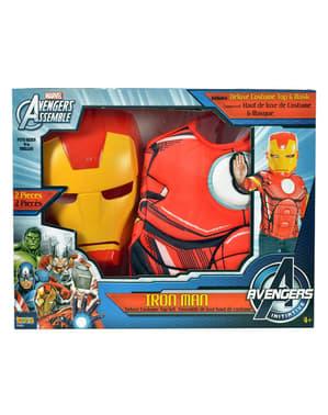 Kit fato Homem de Ferro musculoso para menino