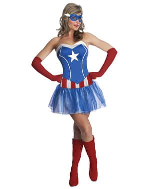 キャプテンアメリカマーベルコスチューム女性用