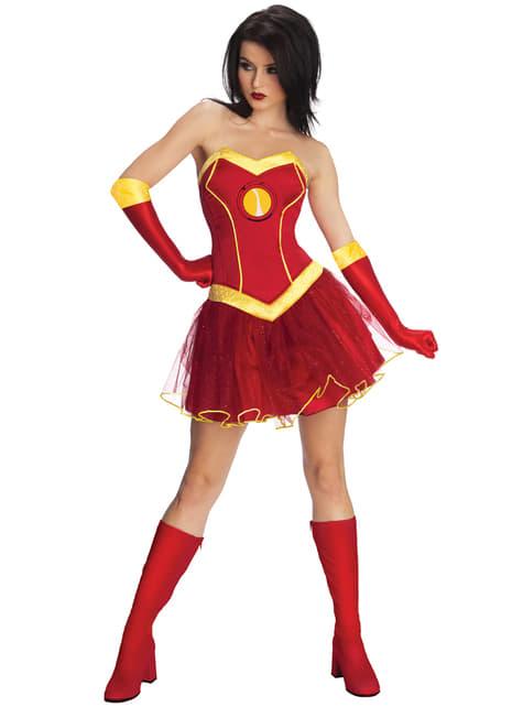 Disfraz de Rescue Iron Man Marvel classic para mujer