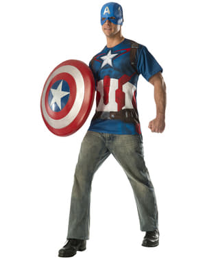 Kit fato Capitão América dos Vingadores: A Era de Ultron para adulto