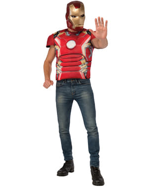 Kit costume Iron Man muscoloso Avengers: Age of Ultron adulto