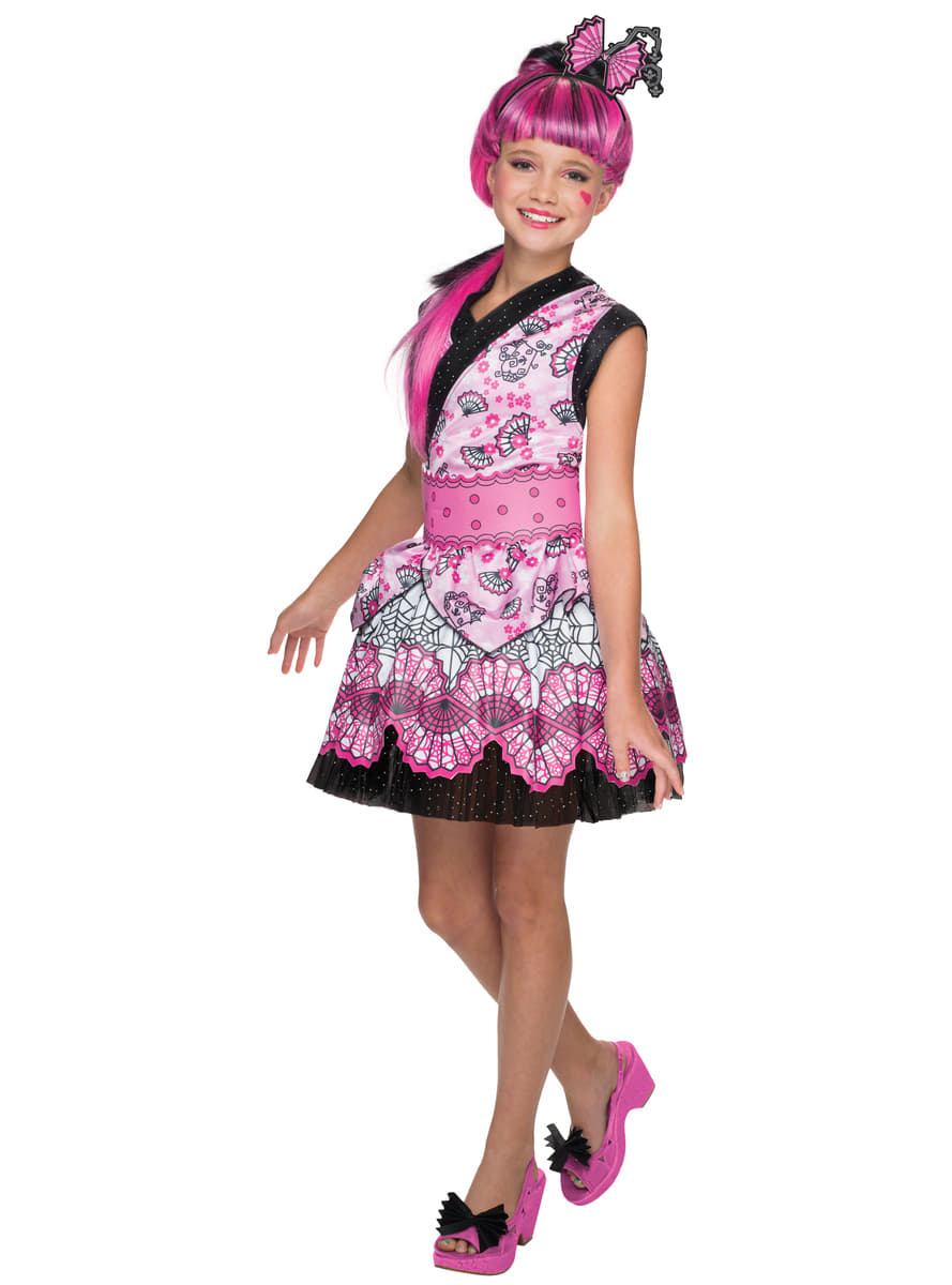 Girls Draculaura Monster High Exchange Costume. Detalle Zoom  sc 1 st  Funidelia & Girls Draculaura Monster High Exchange Costume. The coolest | Funidelia