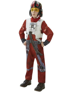 Costum Pilot X-Wing Star Wars Episodul 7 deluxe pentru băiat