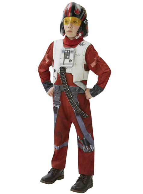 Fato de Piloto X-Wing Star Wars Episódio VII deluxe para adolescente
