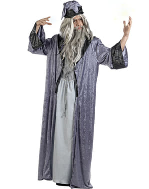 Disfraz de mago Merlín deluxe para hombre