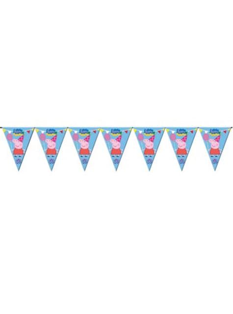 Banderín decorativo de Peppa Pig