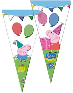 Set of 100 Peppa Pig giant cone party bags