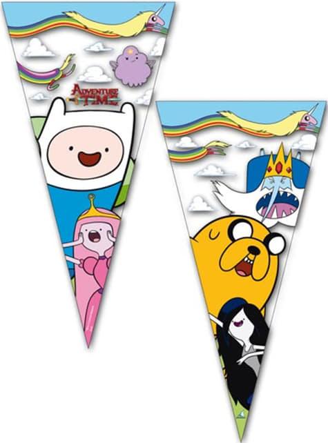 10 kpl Adventure Time kartion muotoiset juhlapussit