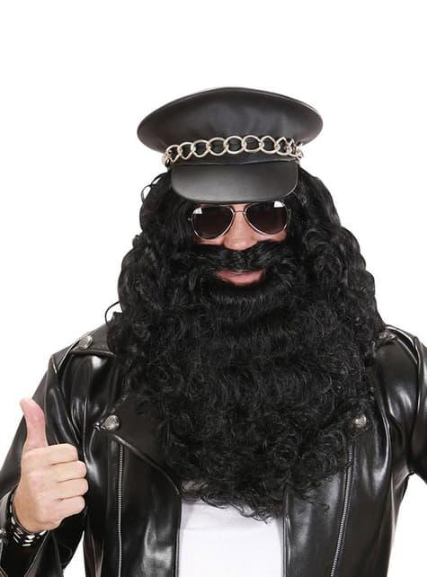 Maxi barba nera uomo