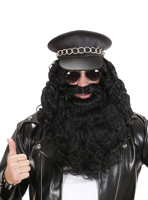 Maxi black beard for a man