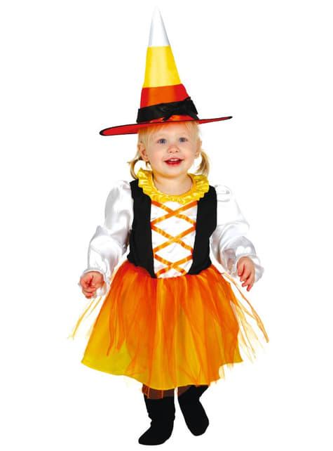 Déguisement sorcière orange bébé