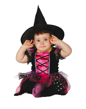 Strój różowa czarownica dla niemowląt