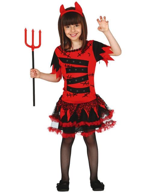 Girls Zombie She Devil Costume